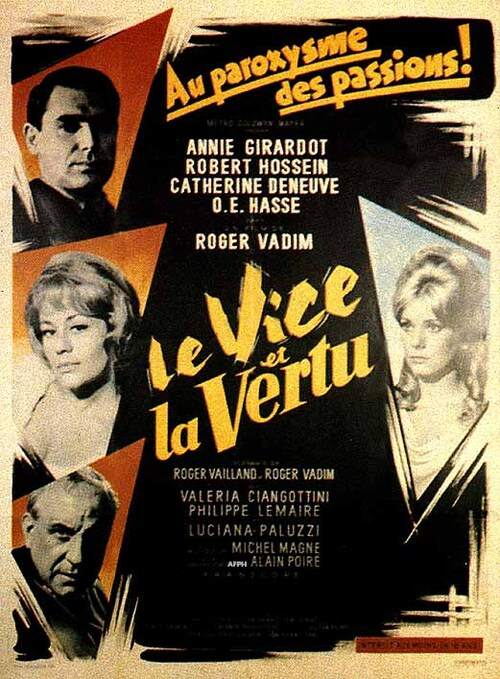 LE VICE ET LA VERTU - BOX OFFICE ANNIE GIRARDOT 1963