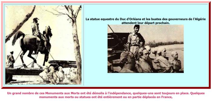 Des monuments déboulonnés, d'autres recouverts d'une bâche noire… mais les Américains n'ont rien innové… Il y a 55 ans c'était aussi les Algériens