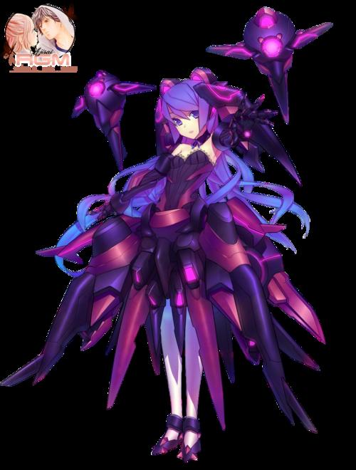 Render Cyborgs/Robots - Renders Fille Mecha Robots Violet Rose