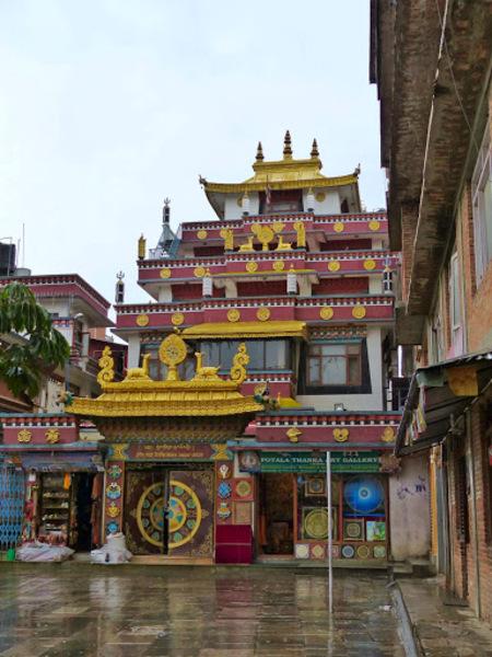 un petit temple bouddhiste du quartier de Thamel
