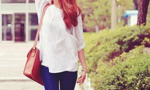 bag, blouse, cute, fashion