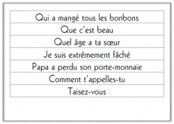 Les types de phrases CE1