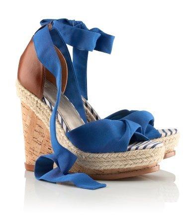 Compensées Bleu & Brun H&M