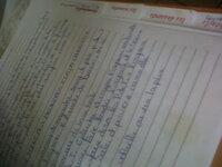 cahier de recettes!!