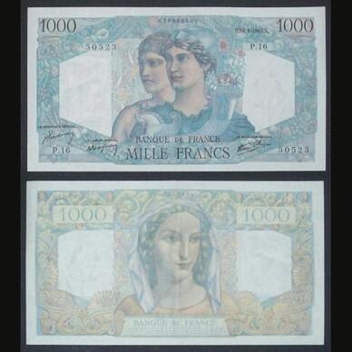 LE BILLET 1000 FRANCS MINERVE ET HERCULE