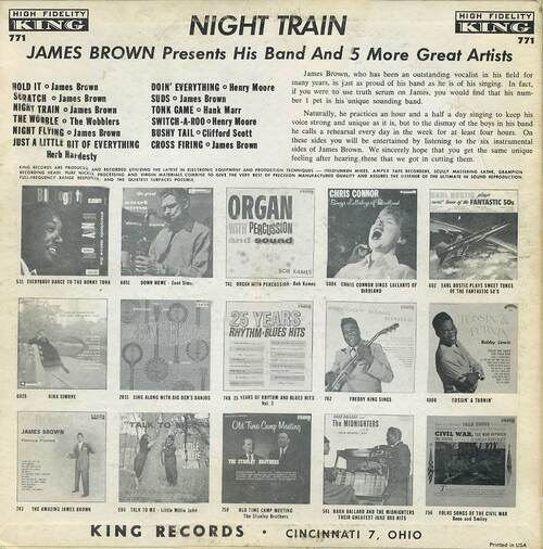 "1961 James Brown "" James Brown Presents His Band Night Train "" King Records K 771 [ US ]"