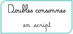 Affichages doubles consonnes