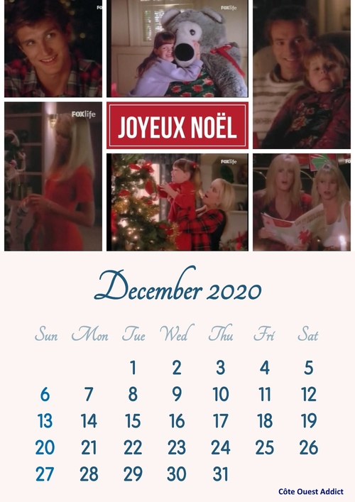 Calendars with scenes from the series.