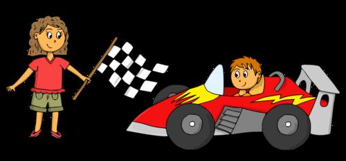 Dessin - Rallye auto (pour ma copinette Séverine !)