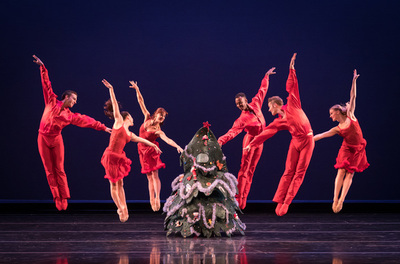 dance ballet christmas tree rock