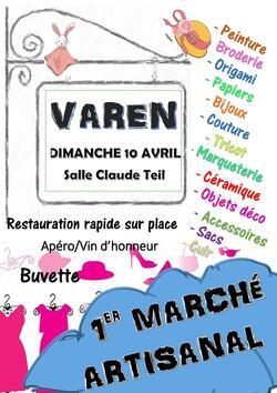 Marché artisanal à Varen 82