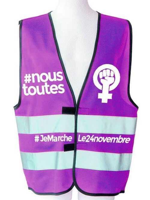 FEMMES: Le 24 novembre, le gilet JAUNE passe au VIOLET!