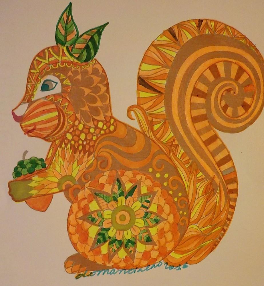 L'écureuil mandala de Domi
