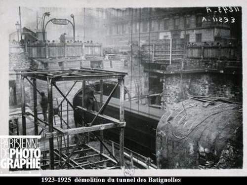 Construction de métro parisien