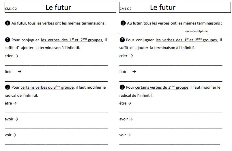 Francais Une Annee En Cm1 Cm2