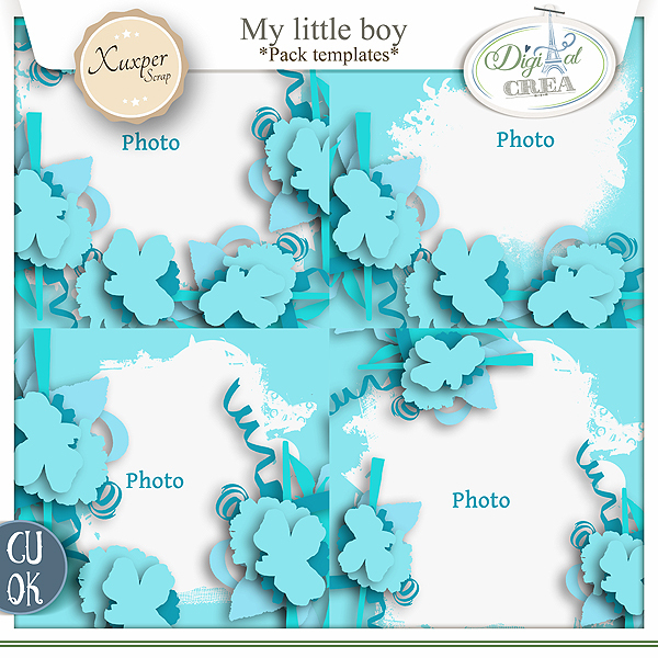 My little boy Pack templates de Xuxper designs