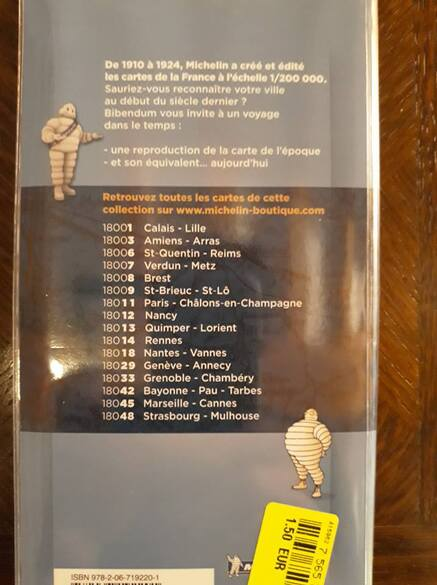 Cartes Michelin hier/aujourd'hui
