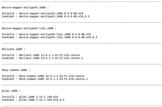 Script de notifications de mise à jour CentOS