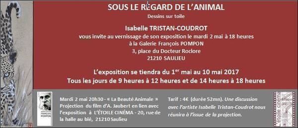 Isabelle Tristan-Coudrot a exposé à la galerie Pompon à Saulieu