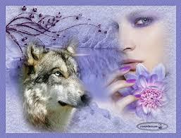 """Résultat de recherche d'images pour """"image de loup avec femme"""""""