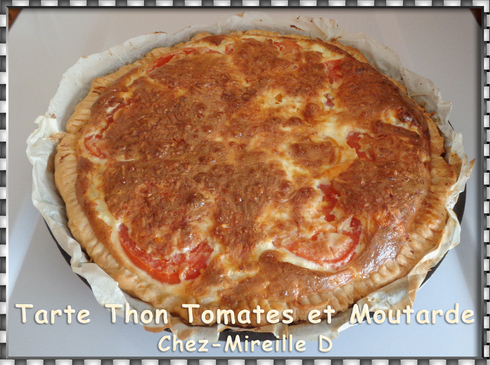 Tarte Thon Tomates et Moutarde