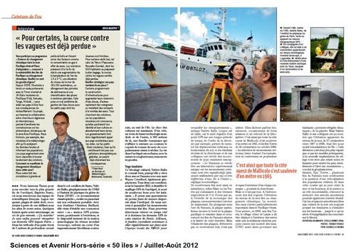 """Juillet 2012 Sciences et Avenir Hors série """"50 îles"""