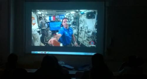 Les CM1 avec Thomas Pesquet depuis l'ISS