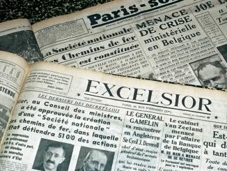 La création de SNCF fait la Une du journal l'Excelsior