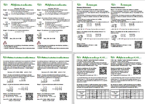 Leçons de Calcul CM2 avec QR Codes