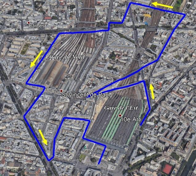 Les gares parisiennes du nord-est
