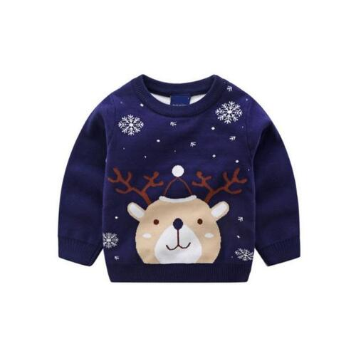 kiskissing wholesale kid christmas cartoon snowflake sweater