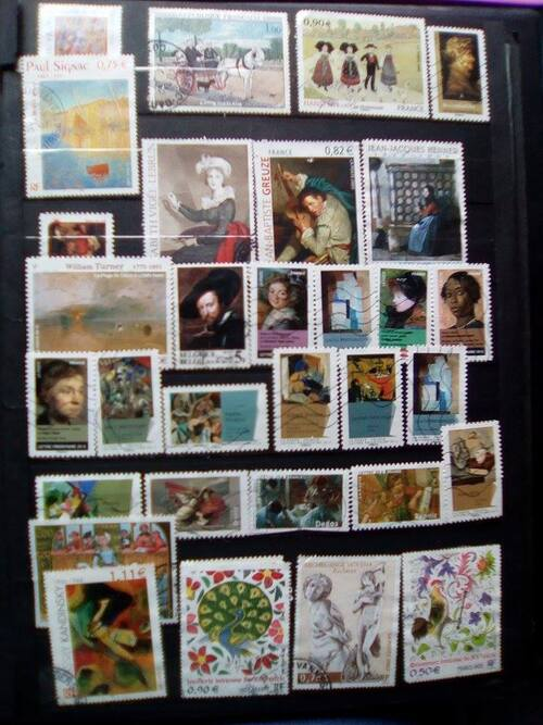 Collection de timbres