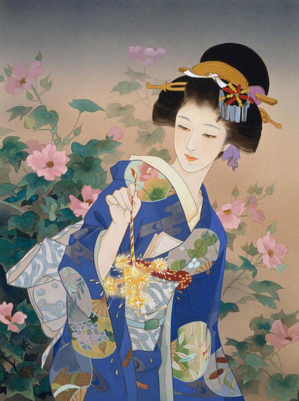 Haruyo Morita, Une Ancienne Peintre De kimono Modernise Des Représentations D'ukiyo-e