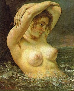 courbet woman in waves