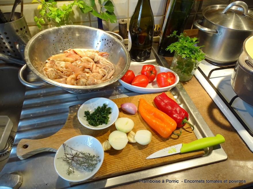 Encornets Tomates et Poivrons