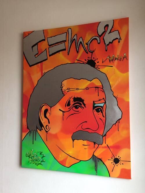 Zombie Einstein. 80x60cm
