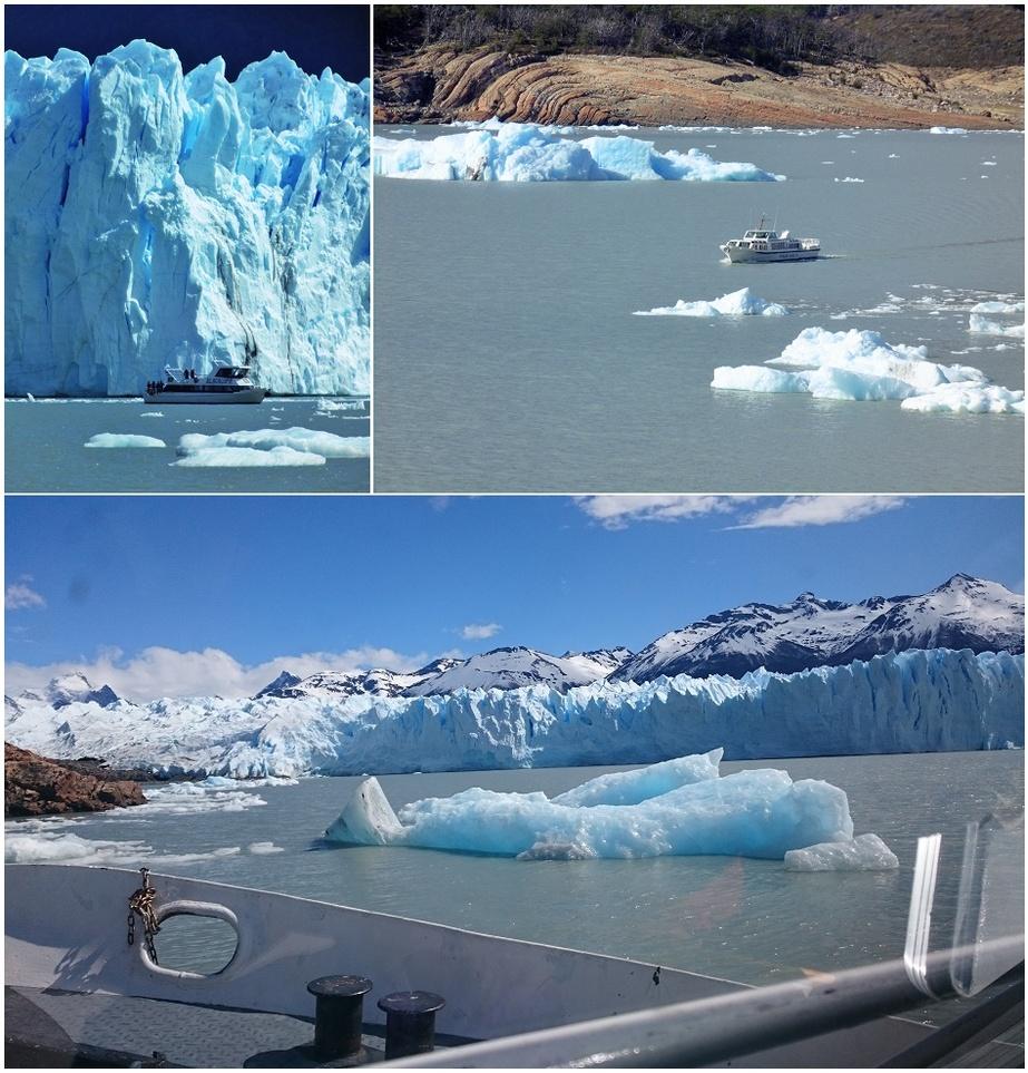 sortie bâteau pour s'approcher du Perito Moreno