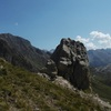 Le piton Nord du col coté 2215 avec derrière, le Balaïtous