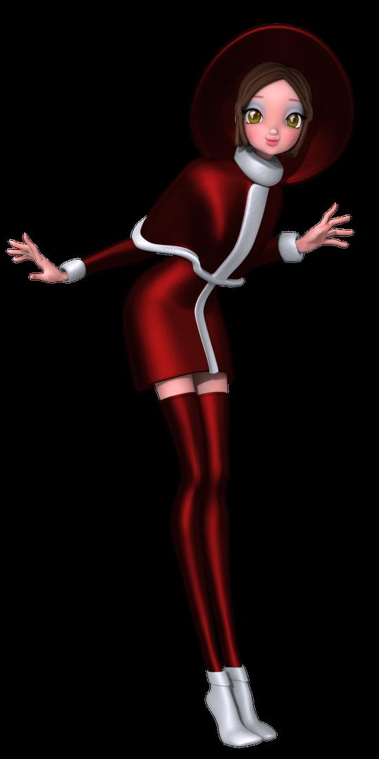 Tube personnage stylisé de Noël (image)