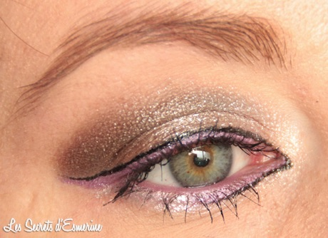 maquillage, makeup, mu, marron, violet, liner, kiko