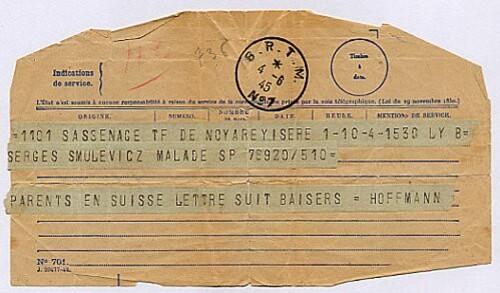 serge telegramme