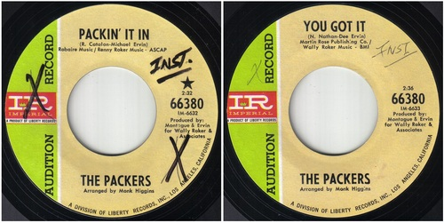THE PACKERS - COMPLETE SINGLES RECORDING