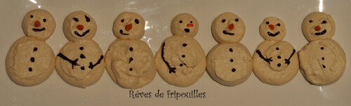 Tuto bonhommes de neige en meringue