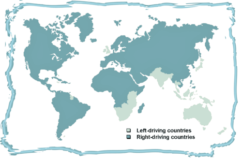 Why don't all countries drive on the same side of the road?