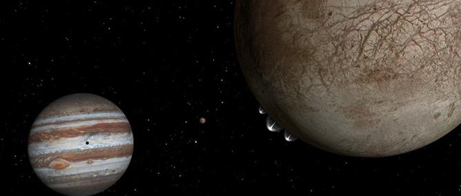 Nouvelles observations... des panaches d'eau sur la lune Europe