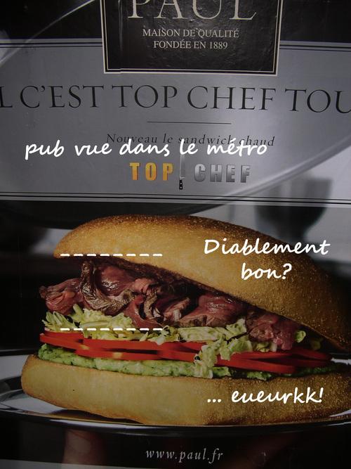 Paul malbouffe sandwich viande burger
