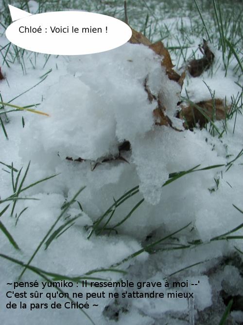 Ce n'ai pas une bataille de boule de neige, mais de bonhomme de neige !