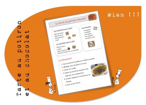 Recette:  la tarte au potiron-chocolat ( ou Nutella)