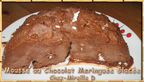 Mousse au Chocolat Meringuée Glacée