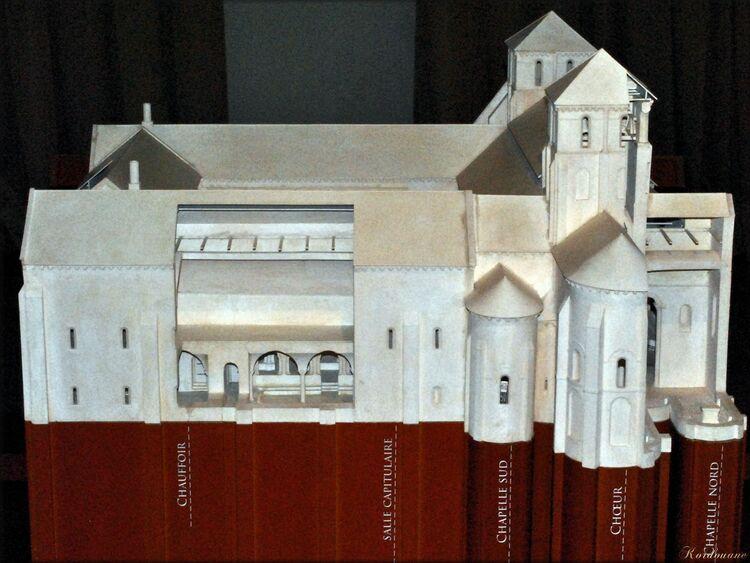 Maquette de l'Abbaye Royale de Nieul-sur-L'Autise